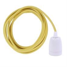 Yellow cable 3 m. w/white porcelain