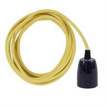 Yellow cable 3 m. w/black porcelain