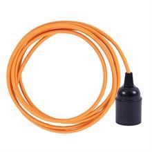Pale orange cable 3 m. w/bakelite lamp holder