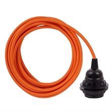 Orange cable 3 m. w/bakelite lamp holder w/2 rings E27