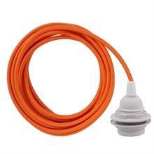 Orange cable 3 m. w/plastic lamp holder w/2 rings E27