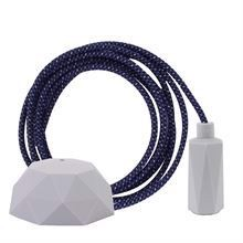 Denim Mix cable 3 m. w/pale grey Hexa E14