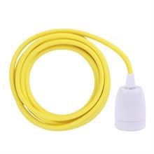 Dusty Yellow cable 3 m. w/white porcelain