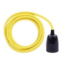 Dusty Yellow cable 3 m. w/black porcelain