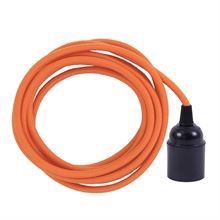 Dusty Orange cable 3 m. w/bakelite lamp holder