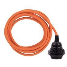 Dusty Orange cable 3 m. w/bakelite lamp holder w/2 rings E27