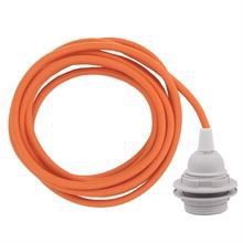 Dusty Orange cable 3 m. w/plastic lamp holder w/2 rings E27