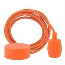 Dusty Orange cable 3 m. w/deep orange Plisse