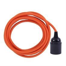 Dusty Deep orange cable 3 m. w/bakelite lamp holder