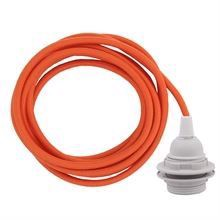 Dusty Deep orange cable 3 m. w/plastic lamp holder w/2 rings E27