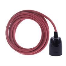 Dusty Mulberry cable 3 m. w/black porcelain