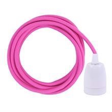 Dusty Hot pink cable 3 m. w/white porcelain