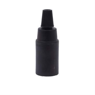 Black plastic lamp holder E14