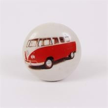 Knob with red bus