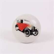 Knob with red car