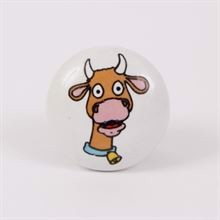 Knob with cow