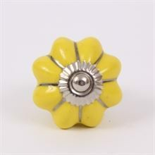 Yellow melon knob w/silver