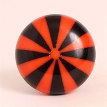 Black/orange polyresin knob