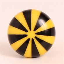 Black/yellow polyresin knob