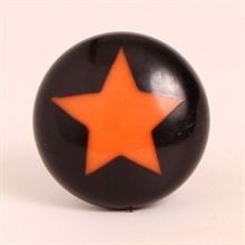 Black knob w/orange star