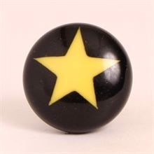 Black knob w/yellow star
