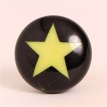 Black knob w/lime green star