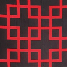 Throw Square Black Red