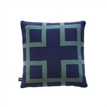 Square knitted cushion cover 50x50 Denim blue