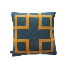 Square knitted cushion cover 50x50 Petrol Honey