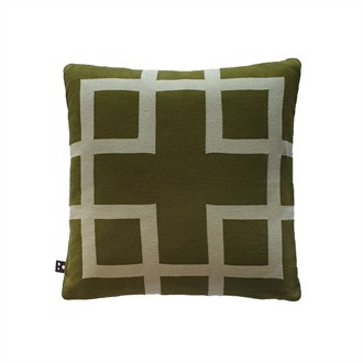 Square knitted cushion cover 50x50 Pesto