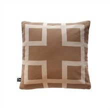 Square knitted cushion cover 50x50 Sandy