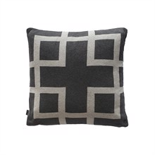 Square knitted cushion cover 50x50 Warm grey