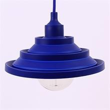 Dark blue Silicone Flex pendant lamp