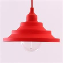 Red Silicone Flex pendant lamp