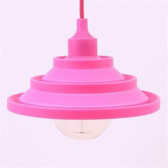 Hot pink Silicone Flex pendant lamp