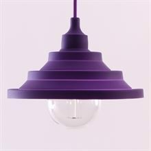 Purple Silicone Flex pendant lamp