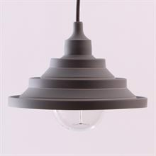 Dark grey Silicone Flex pendant lamp