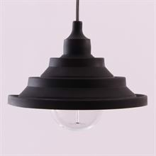 Black Silicone Flex pendant lamp