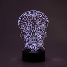 3D LED Night lamp Skull