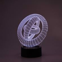 3D LED Night lamp Rings