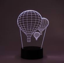 3D LED Night lamp Airballoons