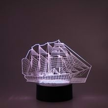 3D LED Night lamp Ship