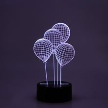 3D LED Night lamp Balloons