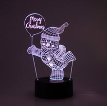 3D LED Night lamp Snowman